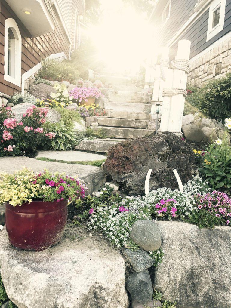То, как солнце выстроилось в ряд с каменными лестницами моих соседей