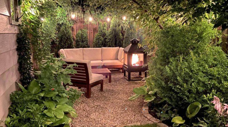 Мой маленький уголок для отдыха на заднем дворе
