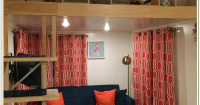 Лофт в квартире, кровать под потолком, жилой чердак